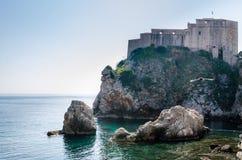 Forte Lovrjenac em Dubrovnik, Croácia Fotografia de Stock Royalty Free