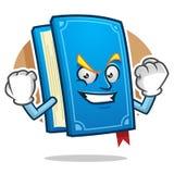 Forte mascotte del libro, carattere del libro, fumetto del libro Fotografia Stock Libera da Diritti