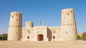 Forte na área crescente de Liwa dos UAE Fotos de Stock Royalty Free