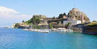 Forte na cidade de Corfu, Grécia, Europa Imagem de Stock