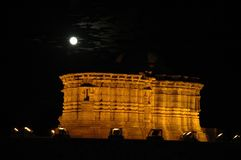 Forte na noite, Índia de Kumbhalgarh Imagens de Stock Royalty Free
