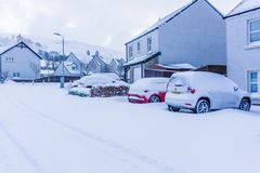 Forte nevicata dalla tempesta Emma immagini stock libere da diritti