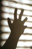 Forte ombra della mano Fotografia Stock Libera da Diritti