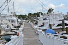 Forte Pierce Marina Imagens de Stock Royalty Free