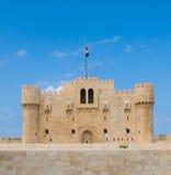 Forte Qaitbey, Alexandria, Egipto Imagem de Stock