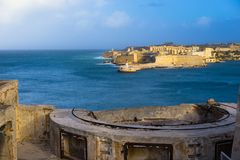 Forte Ricasoli e quebra-mar, Malta Fotografia de Stock Royalty Free