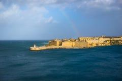 Forte Ricasoli, porto grande, Malta Fotografia de Stock