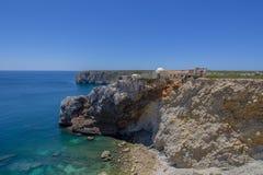 Forte robi Beliche blisko Cabo De Sao Vincente w Algarve, Portugalia Obraz Royalty Free