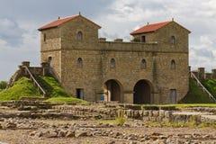 Forte romano de Arbeia Fotografia de Stock