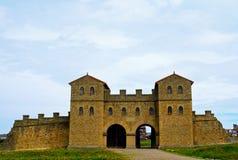 Forte romano de Arbeia, protetores sul, Inglaterra Imagens de Stock