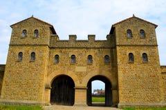 Forte romano de Arbeia, protetores sul, Inglaterra Fotografia de Stock
