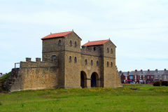 Forte romano de Arbeia, protetores sul, Inglaterra Imagens de Stock Royalty Free