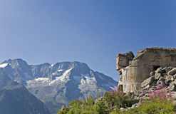 Forte Saccarana at Passo del Tonale Royalty Free Stock Photos