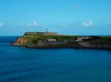 Forte, San Juan velho - Porto Rico imagem de stock