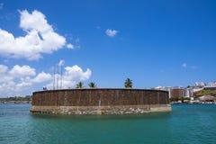 Forte Sao Marcelo fort in Salvador de Bahia. Brazil stock image