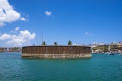 Forte Sao Marcelo fort in Salvador de Bahia. Brazil royalty free stock photo