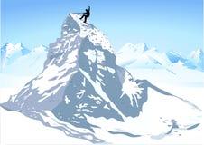 Forte scalata di montagna Fotografia Stock