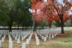 Forte Smith National Cemetery, em novembro de 2016 Imagem de Stock Royalty Free
