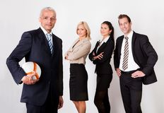 Forte squadra competitiva di affari Fotografia Stock