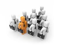Forte squadra con la persona differente Immagine Stock Libera da Diritti