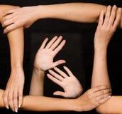 Forte squadra di mani Immagini Stock