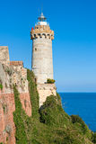 Forte Stella Lighthouse, Portoferraio. Stock Image