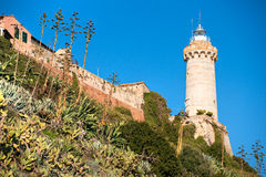 Forte Stella Lighthouse, Portoferraio, Isle of Elb Stock Photos