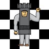 Torre umana di scacchi Fotografie Stock Libere da Diritti