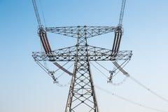 Forte torre di energia elettrica Fotografia Stock
