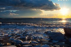 Forte tramonto Fotografia Stock