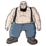 Forte uomo grasso Fotografia Stock Libera da Diritti