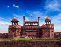 Forte vermelho (Lal Qila). Deli, Índia Foto de Stock Royalty Free