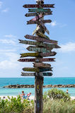 Forte Zachary Taylor Beach em Key West Fotografia de Stock