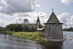 forteca antyczna ziemia Pskov Zdjęcie Stock