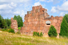 Forteca Bomarsund, Aland, Finlandia Fotografia Stock