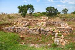 Forteca na Kaliakra przylądkowym, Bułgarski Czarny Denny wybrzeże obrazy stock