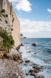 Forteca na plaży Fotografia Royalty Free