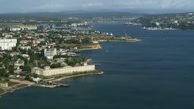 Forteca na seashore zbiory wideo