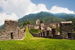 Forteca w Bellinzona obraz royalty free