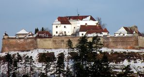 Forteca w Brasov, Transilvania, Rumunia Zdjęcia Stock