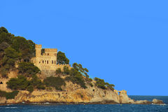 Forteca w Lloret De Mar Fotografia Royalty Free