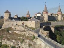 Forteca w starym grodzkim Kamenetz-Podolsk w Ukraina Fotografia Royalty Free
