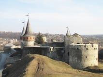 Forteca w starym grodzkim Kamenetz-Podolsk w Ukraina Zdjęcia Stock