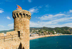 Forteca w Tossa De Mar Obraz Royalty Free