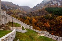 Forteca w Travnik Bośnia i Herzegovina zdjęcia stock