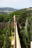 Fortecy ścienny odgórny widok Zdjęcie Royalty Free