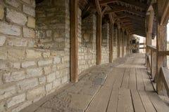 Forteczna kamienna ściana zdjęcia stock