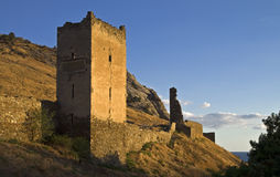 forteczne stare ruiny obraz royalty free