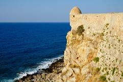 Forteczny Fortezza w mieście Rethymno Obrazy Royalty Free