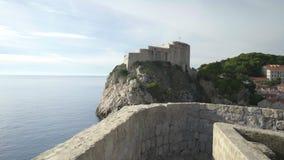 Forteczny Lovrijenac w starym mieście Dubrovnik zbiory